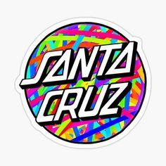 Santa Cruz Stickers, Santa Cruz Logo, Hand Logo, Aesthetic Stickers, Buick Logo, Sticker Design, Iphone, Nike, Artist