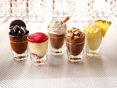 TGI Fridays - Dessert Mini's • Desserts in a Shot Glass satisfy cravings for a little something sweet. Description from pinterest.com. I searched for this on bing.com/images