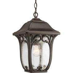 Enchant Collection Espresso 1-light Hanging Lantern