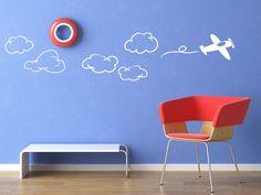 Sticker Avion dans le ciel