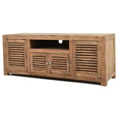 Shutter Media Cabinet Walnut $799.00 | Rustic TV Stand | Pinterest ...
