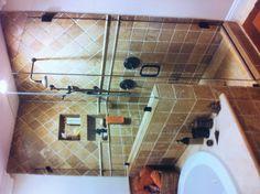 Bathroom Shower remodel finished.  Basement