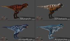 PCE] Carno Skin Pack #2 by Phelcer on DeviantArt Dinosaur Time, Dinosaur Art, Jurassic World Dinosaurs, Jurassic Park, Primal Carnage, Fabulous Beasts, Fantasy Monster, Prehistoric Creatures, Prehistory