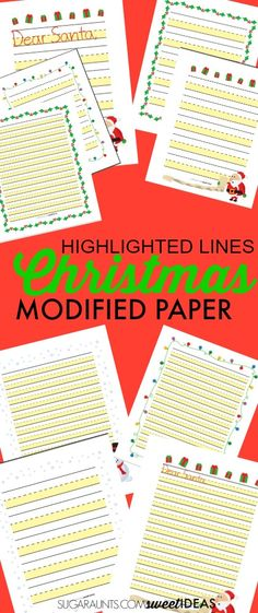 Bold Line Christmas Paper Writing letters, Christmas paper and - christmas wish list paper