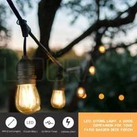 Mpow Led Outdoor String Lights, Heavy-Duty Waterproof Dimmable Led String Lights, 15 Hanging Sockets, Edison Vintage Bulb, Commercial Grade Create Cafe Ambience for Patio Backyard – Black Globe String Lights, String Lights Outdoor, Hanging Lights, Pergola Lighting, Packing Light, Cool Rooms, Backyard Patio, Light Decorations