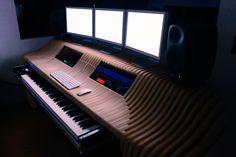 My new studio desk, made from 401 separate pieces of 18mm birch-face ply, Richard Stump Design. www.coroflot.com/richardstump