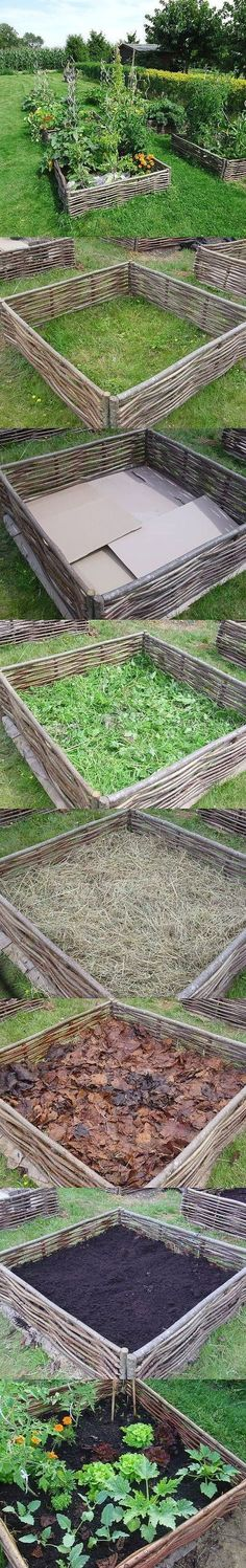 Building a lasagna raised bed garden | Garden and Yard | Фазенда. | Постила