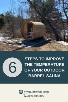 Are you getting your desired temperature in your sauna sessions, or maybe you just want a little bit more heat? Here's an article about improving the temperature inside your sauna. Barrel Sauna, Traditional Saunas, Low Humidity, Environment, World, Outdoor, Outdoors, The World
