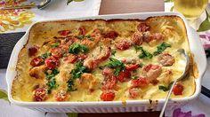 Mozzarella - Hähnchen in Basilikum - Sahnesauce 14