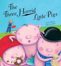 Great book for lessons about Point of View using fairy tales. The Three Horrid Little Pigs by Liz Pichon, http://www.amazon.com/dp/1589254236/ref=cm_sw_r_pi_dp_rQlyrb0RZ3GZ3