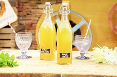 Mátový sirup co oživí i mrtvého – CULINA BOTANICA Limoncello, Flute, Champagne, Food And Drink, Drinks, Tableware, Recipes, Syrup, Drinking