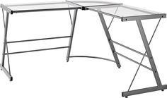 Amazon.com: Altra Odin Glass L-Shaped Computer Desk, Gray: Home & Kitchen