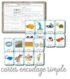 La maternelle de Laurène: Cartes encodage simple French Classroom, Lana, Alphabet, Language, Preschool, Bullet Journal, Activities, Simple, Education