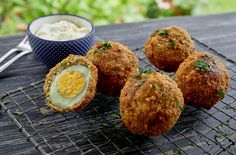 """""""Hard Boiled scotch eggs with mustard Mayo"""""""