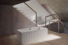 BetteLoft Ornament series free-standing tub and wall-mounted sink