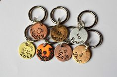 "Tiny Cat Tag, Dog Tag, Pet ID Tag, Pet Tag, Pet Tags, Engraved Pet Tag, Dog, Collar Tag, Metal Pet Tag, Custom ID Tag (Ittie Bitties 5/8"") by FetchAPassionTags on Etsy https://www.etsy.com/listing/113115912/tiny-cat-tag-dog-tag-pet-id-tag-pet-tag"