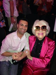 Steven Cuoco and Carol Channing