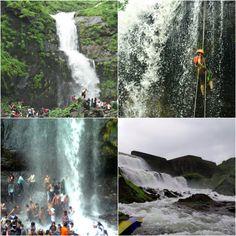 Beautiful #Waterfalls in #Karjat Near Karjatvilla farmhouse. #Maharashtra