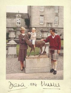 Diana, Charles and William in 1984