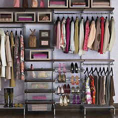 Walnut & Platinum elfa décor freestanding Closet