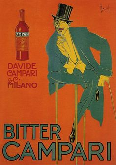 vintage Campari ad courtesy of Vintage Advertising and Poster Art