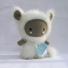 White Frost Monster by Stuffed Silly