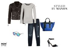 Styled by Manon #45: boyfriend look, Esprit top, DNA jacket, River Island jeans, Jeepers Peepers bag, Calvin Klein sunglasses, Bianco heels
