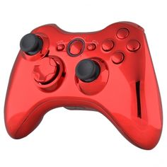 Chrome Red & Red Buttons/Inserts Xbox 360 Controller, Chrome Colour, Red Button, Me On A Map, Xbox One, Games, Stuff To Buy, Full Set, Buy Cheap