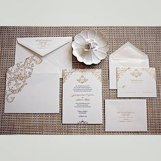 We loved designing this suite! Navy letterpress with gold foil stamping, gold edge paint, and to top it off, the custom converted inner envelope with gorgeous bleed design. So much fun creating and printing this suite! Foil Stamped Wedding Invitations, Painting Edges, Foil Stamping, Love Design, Our Love, Gold Foil, Letterpress, Envelope, Gift Wrapping