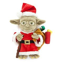 Santa's helper Yoda delivers the goods to Dagobah and throughout the <i>Star Wars</i> galaxy. Be sure to snap an ''Elfie'' with this soft plush toy as he shares his festive Force with your jolly Jedi youngling.