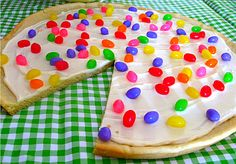 Jellybean Pizza! FUN idea for Easter or a birthday party or just because it looks to fun and colorful!