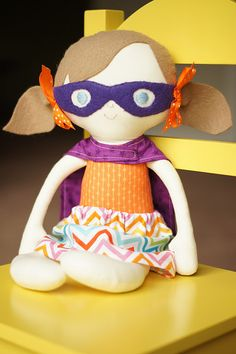 Best doll pattern EVER.  I've made her several times now...even added a mask and cape for a Super Girl.