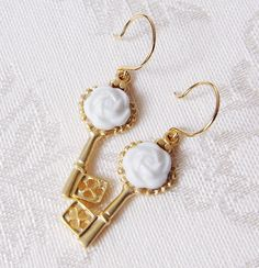 Browse Porcelain Camellia Golden Key Earrings and more from POPORCELAIN at Wolf & Badger - the leading destination for independent designer fashion, jewellery and homewares. Golden Key, Fashion Jewelry, Women Jewelry, Porcelain Jewelry, Matte Gold, Sterling Silver Earrings, Drop Earrings, Gemstones, Ethical Fashion