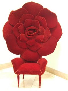 Red rose chair