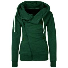 Hooded Zipper Drawstring Green Sweatshirt ($15) ❤ liked on Polyvore featuring tops, hoodies, sweatshirts, shirts, green, long sleeve shirts, zip up shirt, zip up hoodies, hooded sweatshirt and hooded sweat shirt