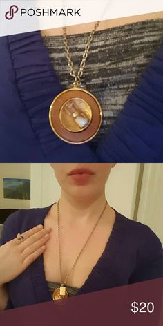 Vintage gold hourglass necklace This is a really unique piece - it's in pretty decent vintage condition. Working hourglass with white sand inside.   Make me a reasonable offer! Jewelry Necklaces
