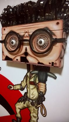 Egon by NMPM. Wall sculpture using vintage VHS tape. Egon Spengler, Harold Ramis, Ghostbusters, vhs art, video store