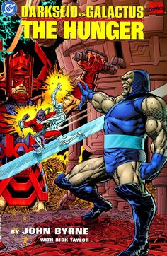 Galactus vs. Darkseid (one of the best Marvel-DC collaborations ever done)