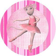 (Large Party Printable Set) Angelina Ballerina – Kit Completo com molduras para convites, rótulos para guloseimas, lembrancinhas e imagens! | Fazendo a Nossa Festa