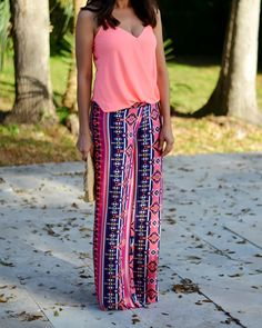CHIC COASTAL LIVING: Palazzo Pants  Would wear with a black leather bag and simple heeled sandals