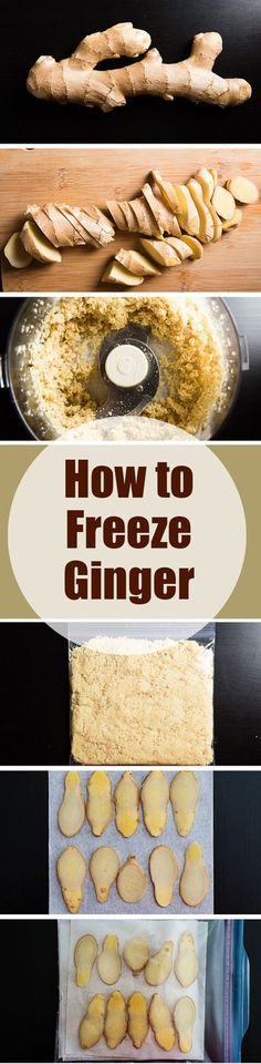 How to Freeze Ginger - Uhmmm - Delicious Dessert Recipes Freezer Cooking, Freezer Meals, Cooking Tips, Cooking Food, Cooking Classes, Thai Cooking, Cooking Bacon, Cooking Games, Freezing Vegetables