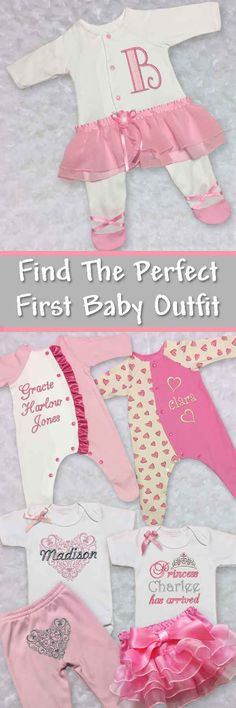 Find the cutest newborn baby girl clothes! Featuring personalized baby girl outfits, one piece newborn baby outfits, and unique take home baby girl outfits. Made in the USA!