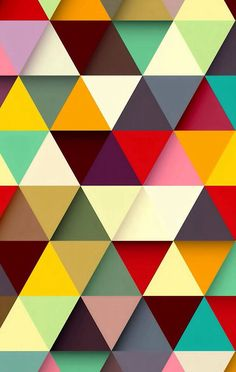 Wallpaper / Triangle Texture / Color Texture / Geometric Pattern