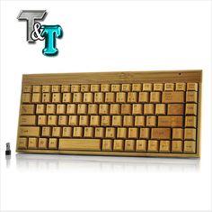 Tastiera wireless in bambú - Handcrafted Wireless Bamboo Keyboard
