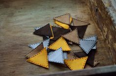 Geometry patch applique iron on, triangle patch applique, Applique for clothing,