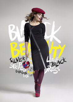 """Das perfekte """"kleine Schwarze"""" von Doris Streich: Für alle Mädels, die solange Schwarz tragen, bis es eine dunklere Farbe gibt. #curvy #Kleid #dress"""