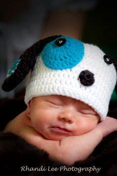 Baby Boy Crochet Puppy Dog Hat Made to Order by RainyDayDelightz, $25.00