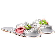 Miu Miu - Sandals - Silver - Italy - 5XX154_3A5Z_F0118_F_005