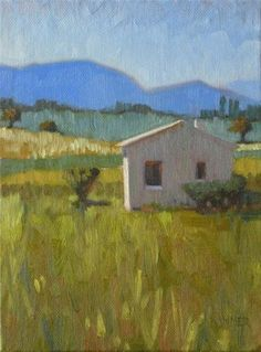 DPW Fine Art Friendly Auctions - Cottage in Provence 6x8 oil by Claudia Hammer