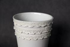 - porcelain decoration by lace Lace Vase, Rococo, Porcelain, Pure Products, Elegant, Decoration, Tableware, Classy, Decor